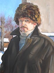 Alexei Lopato - Self-portrait; oil painting: oil on canvas