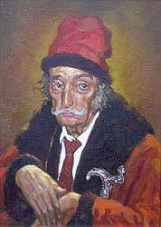 Alexei Lopato - Salvador Dali portrait; oil painting: oil on canvas