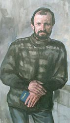 Alexei Lopato - Portrait of writer Sergey Tokarev; oil painting: oil on canvas