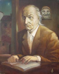 Alexei Lopato - Portrait of B. Kambarov; oil painting: oil on canvas