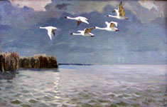 Dmitriy Iv. Melnikov  (1923-1999) - Over Azov sea; oil painting: oil on cardboard