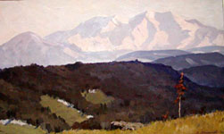 Dmitriy Iv. Melnikov  (1923-1999) - The Caucasus; oil painting: oil on canvas