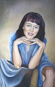 Ekaterina Tyutina - Natasha; oil painting: oil on canvas