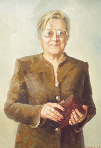 - Portrait of L.P. Holodovoy; oil painting: oil on canvas