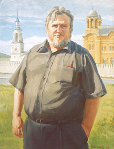 - Portrait of architect-restorer V.I. Siminenko; oil painting: oil on canvas