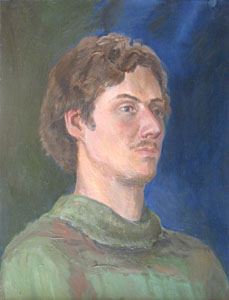 - The portrait of Ivan Romanenko; oil painting: oil on canvas