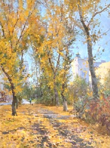 Alexey Efremov - September gold; oil painting: oil on canvas