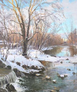 Alexey Efremov - Winter has come; oil painting: oil on canvas