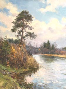 Alexey Efremov - Autumn; oil painting: oil on canvas