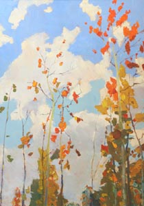 Aleksandr Burak (1921-1997) - Autumn motive; oil painting: oil on cardboard