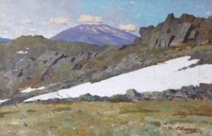 Aleksandr Burak (1921-1997) - Stone Konjakovskiy; oil painting: oil on canvas