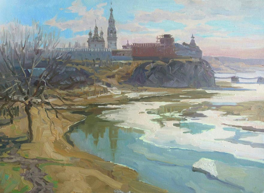Aleksandr  Remezov - Spring water; oil painting: oil on canvas
