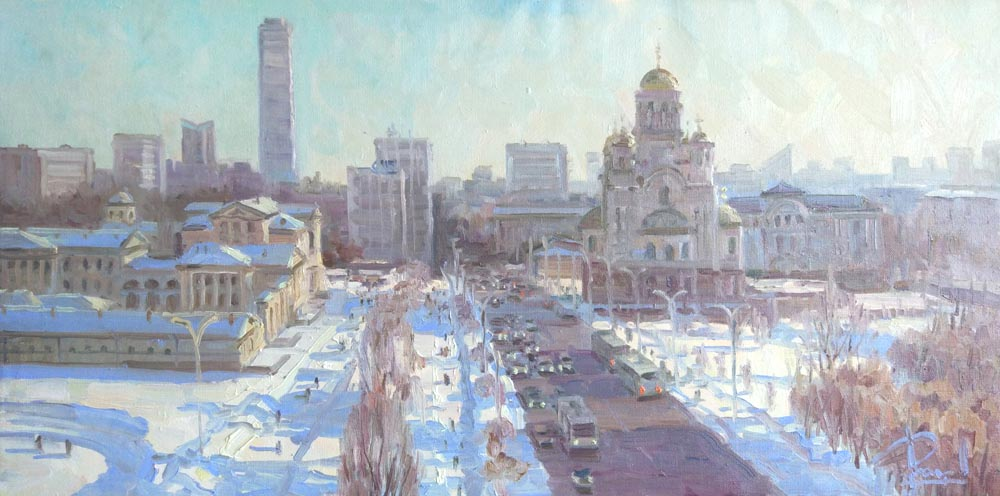 Aleksandr  Remezov - Sunny day; oil painting: oil on canvas