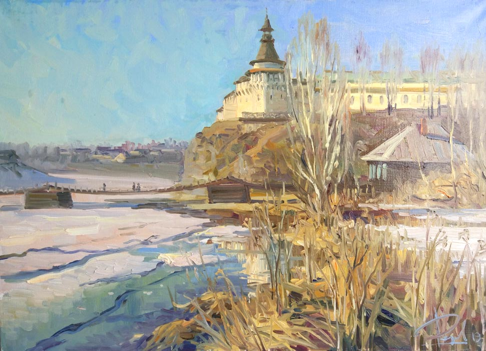 Aleksandr  Remezov - Old fortress; oil painting: oil on canvas