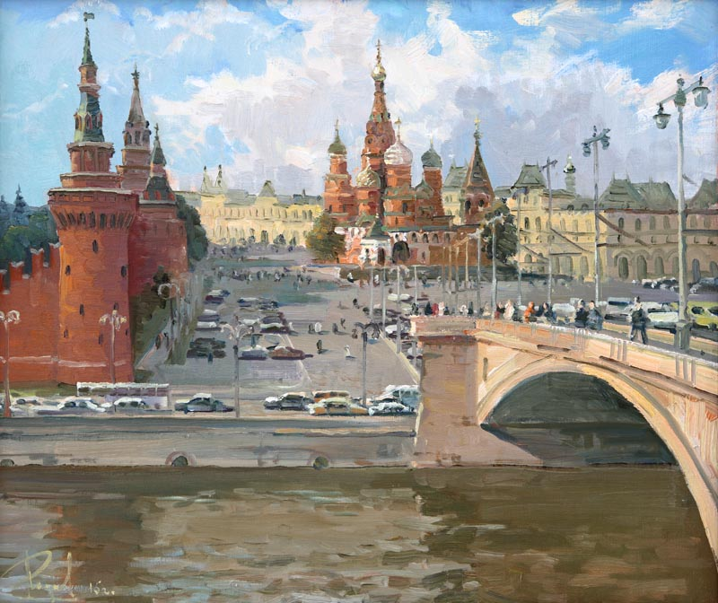 Aleksandr  Remezov - Vasilevsky descent. Moscow; oil painting: oil on canvas