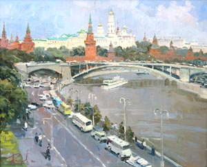 Aleksandr  Remezov - Moscow; oil painting: oil on canvas