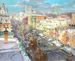 Aleksandr  Remezov - Sunny day. Ekaterinburg; oil painting: oil on canvas