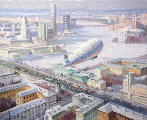 Aleksandr  Remezov - Over the city. Ekaterinburg; oil painting: oil on canvas