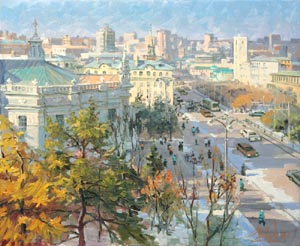 Aleksandr  Remezov - From my window. Ekaterinburg; oil painting: oil on canvas