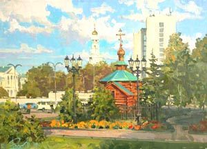 Aleksandr  Remezov - Voznesenskaya Gorka. Ekaterinburg; oil painting: oil on canvas
