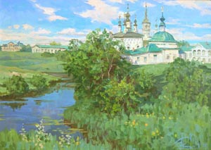 Aleksandr  Remezov - Noon. Suzdal; oil painting: oil on canvas