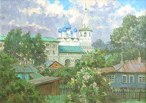 Aleksandr  Remezov - After the rain. Suzdal; oil painting: oil on canvas