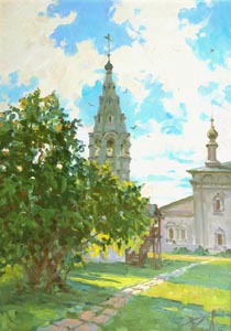 Aleksandr  Remezov - The last rays. Suzdal; oil painting: oil on canvas