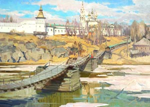 Aleksandr  Remezov - Northern spring; oil painting: oil on canvas