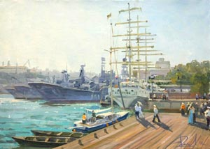 Aleksandr  Remezov - Sevastopol; oil painting: oil on canvas