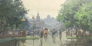 Aleksandr  Remezov - Rainy day; oil painting: oil on canvas