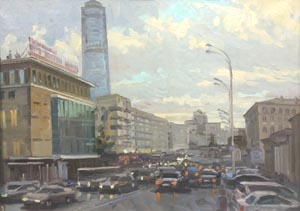 Aleksandr  Remezov - Urban landscape; oil painting: oil on canvas
