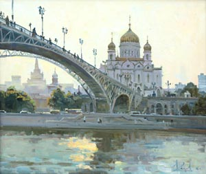 Aleksandr  Remezov - The Cathedral Of Christ The Savior. Moscow; oil painting: oil on canvas