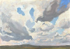 Vladimir Bushuev - Clouds; oil painting: oil on cardboard