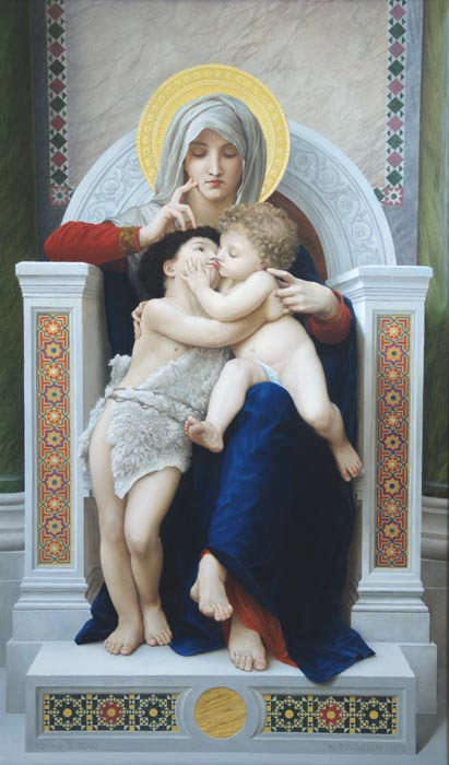 Dmitriy Sheglov - Replica of William-Adolphe Bouguereau; oil painting: oil on canvas