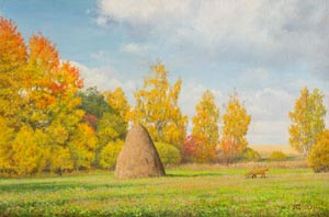Dmitriy Sheglov - Still autumn; oil painting: oil on canvas