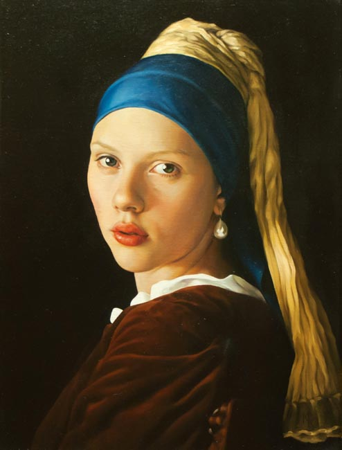 Yuri Kazantsev - Girl with ear-ring; oil painting: oil on canvas