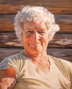 Yuri Kazantsev - Grandmother; oil painting: oil on canvas