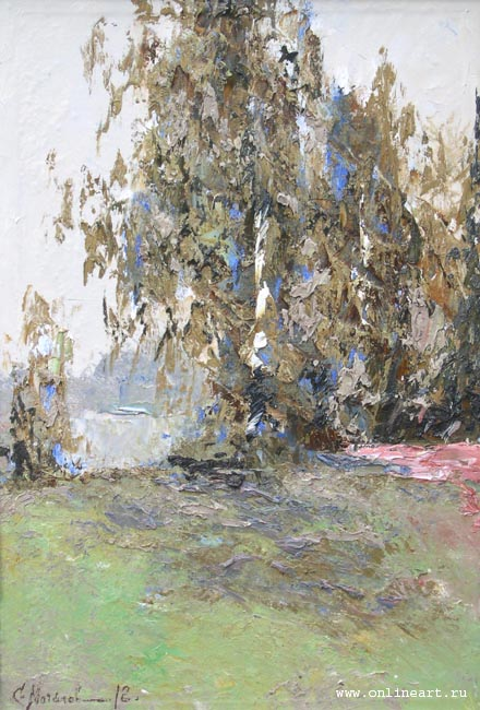 Sergey Mochalov - Lonely birch; oil painting: oil on canvas
