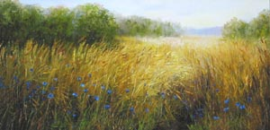 Irina Popova - In the field; oil painting: oil on canvas