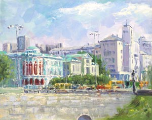 Ekaterina Tyutina - City summer; oil painting: oil on canvas