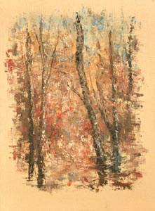 Vladimir Volosov - Autumn forest; oil painting: oil on canvas
